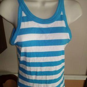 Nike Sportswear Tank Top Sz L Blue/White